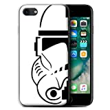 STUFF4 Gel TPU Phone Case / Cover for Apple iPhone 7 / Clone Soldier Design / Assault Trooper Helmet Collection