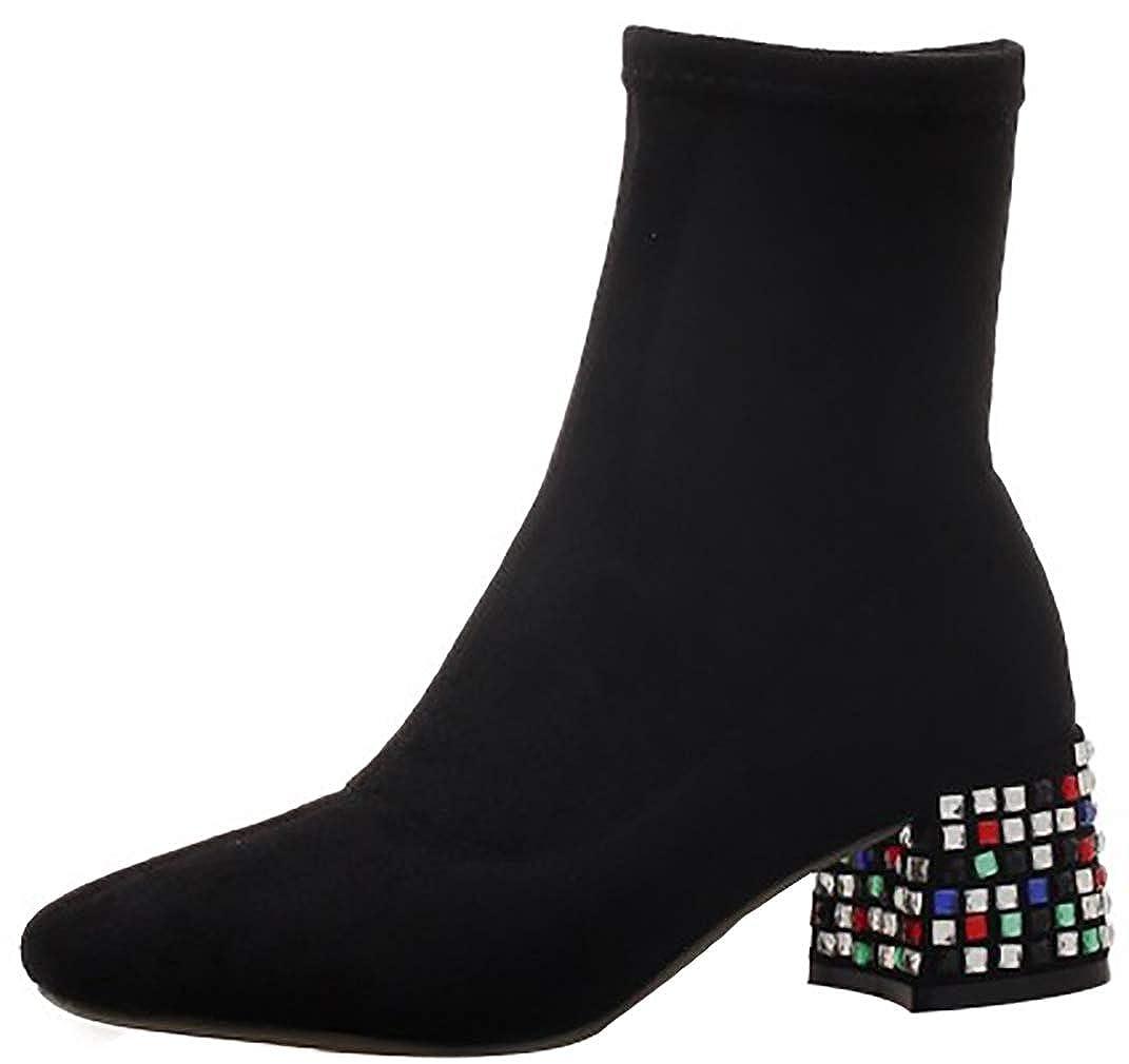 Calaier Damen Honglin 5.5CM Blockabsatz Ziehen Sie An Item_Type Schuhe