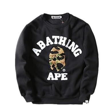 4f0ace2fe Wupi BAPE Fashion Long Sleeve Crew Neck Sweatshirt Sweater for Men/Women at  Amazon Men's Clothing store: