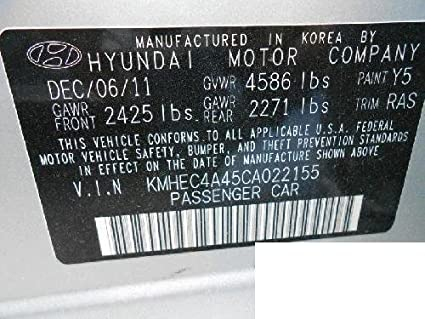 Genuine Hyundai 81905-33190-EH Lock Key and Cylinder Set