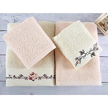 Serra Home Hotel & - Juego de toallas de mano de algodón turco de 4 cabezas