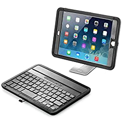 iPad mini Keyboard Case, New Trent NT31B Airbender Mini Rugged Splash Resistant Dirt and Shockproof Wireless Bluetooth iPad mini Keyboard Case with Built-in Screen Protector for iPad mini 1 2 3 Only