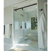 """CRL 60"""" Oil Rubbed Bronze Hydroslide 180 Degree Standard Sliding Shower Door Kit"""