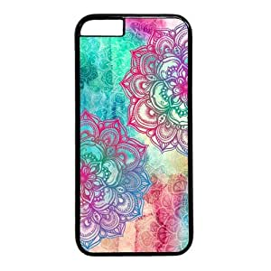"""Colorful Flower Pattern Theme Case for iPhone 6(4.7"""") PC Material Black by ruishername"""