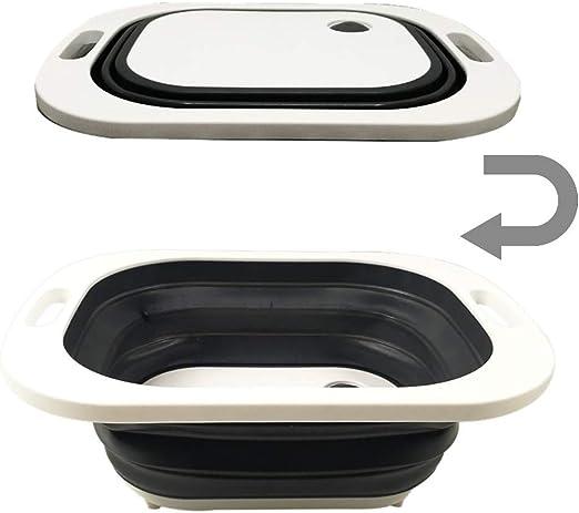 Chopping Board Folding Drain Basket Multifunction 2 In 1 Sink Cutting Board