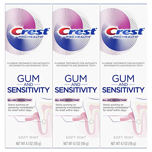 Crest Pro-Health Gum and Sensitivity, Sensitive Toothpaste, All-Day Protection, (Pack of 3), 4.1 - Toothpaste Sensitive Crest