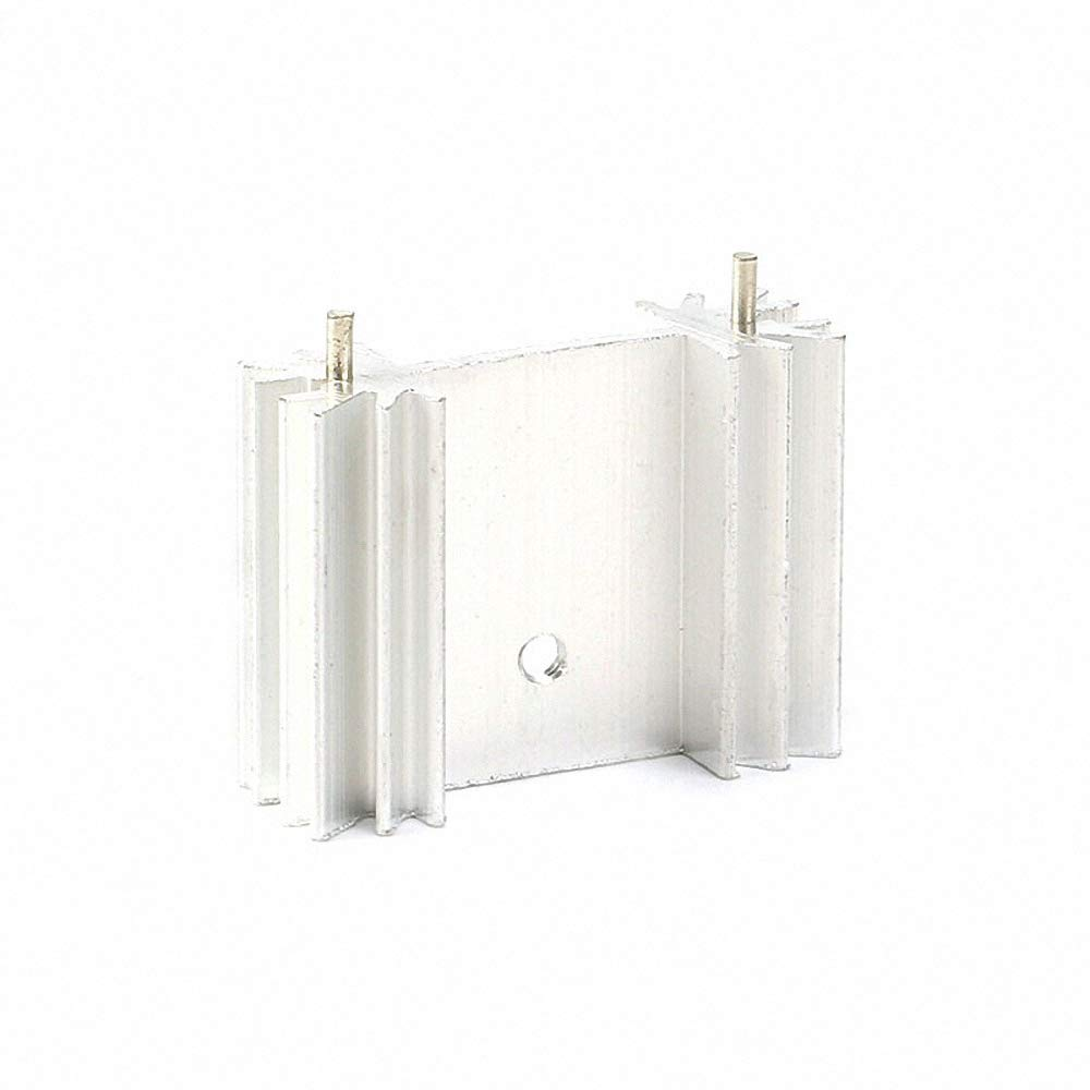 5 pcs Heatsink Radiator Cooling Fin Heat Sink Aluminum Cooler for IC Chip LED with pin 342512mm 34X25X12mm