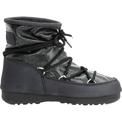 Botas para mujer, color Negro , marca MOON BOOT, modelo Botas Para Mujer MOON BOOT W.E. LOW GLITTER Negro Negro