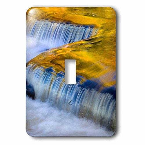 Metal Bond Clock (3dRose Danita Delimont - Waterfalls - Yellow and gold waterfall on the Ontonagon River, Bond Falls, Michigan - Light Switch Covers - single toggle switch (lsp_279083_1))