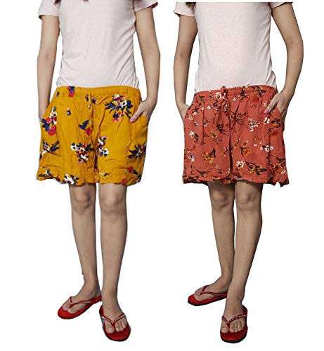 Ukal Combo Printed Cotton Comfortable Shorts for Women and Girls Daily Use, Evening, Night Wear, Casual Wear (Multicolor…