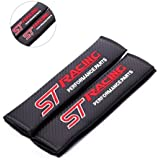 Amooca 2 x ST Racing for focus fiesta Embroidery Seat Belt Shoulder Pads Cover Cushion