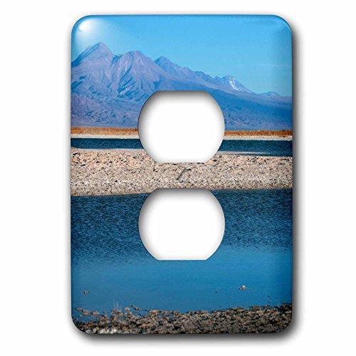 Danita Delimont - Lakes - San Pedro de Atacama, Cejar, three ponds located in the Salt Lake. - Light Switch Covers - 2 plug outlet cover - Salt Outlet Lake