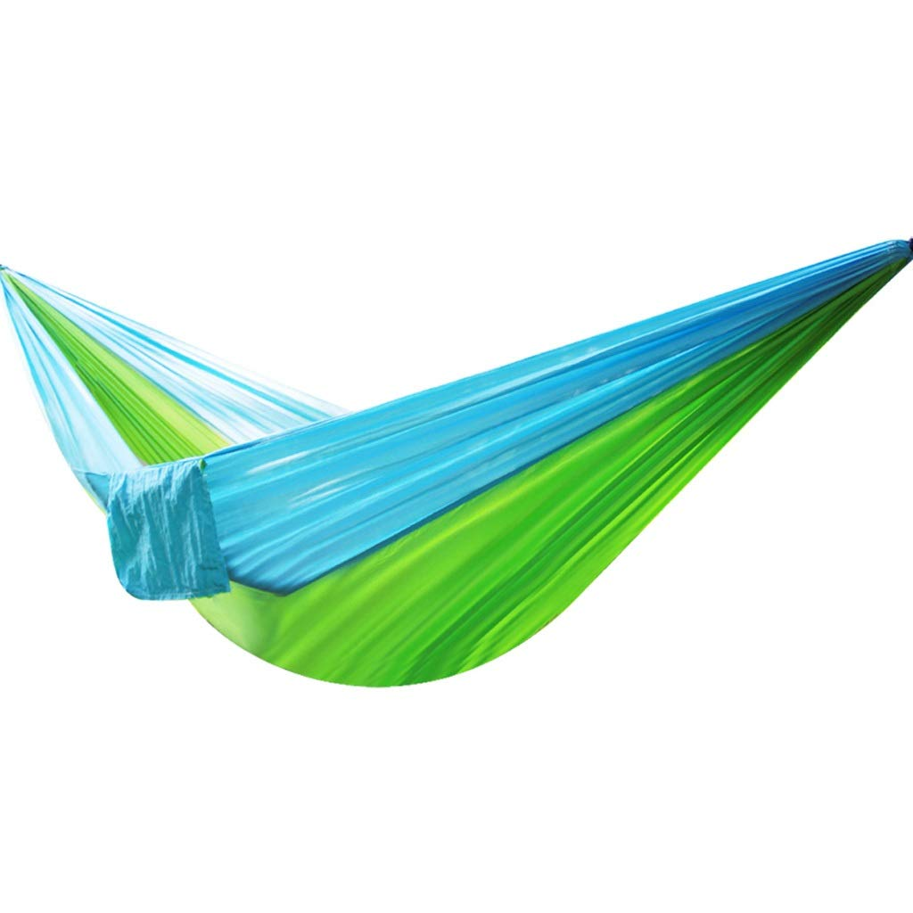 F Outdoor Hammocks Light Parachute Cloth Hammock Outdoor Single Double Camping Leisure Hammock (color   D)