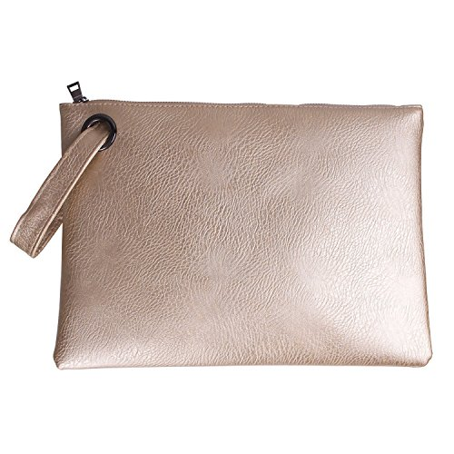 Evening leather Gold Clutch Tskybag Bag Pu Large Wristlet Purse Handbag Womens Oversized f8Tq81