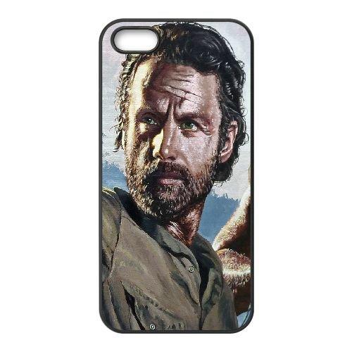 Walking Dead Rick S Parallax OT12FF4 coque iPhone 4 4s cellulaire cas de téléphone coque V4WB0M5DD