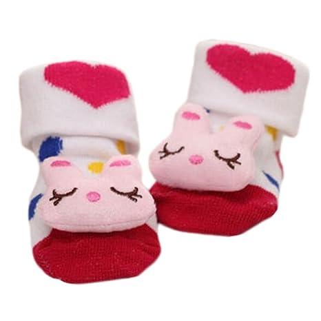 3 pares de calcetines recién nacidos antideslizantes para niños ...
