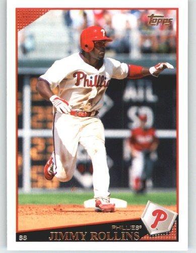 2009 Topps Baseball Card # 525 Jimmy Rollins - Philadelphia Phillies - MLB Trading Card ()
