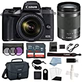 Canon EOS M5 Digital Camera with 18-150mm f/3.5-6.3 is STM Lens + Advanced Accessory Bundle – Includes Everything You Need to Get Started Review