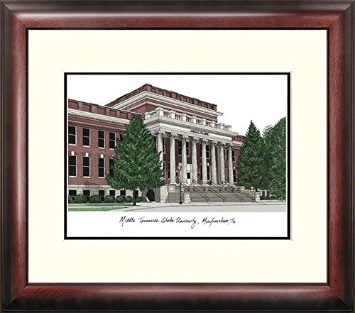 Middle Tennessee State MTSU Framed Lithograph Print by Landmark Publishing