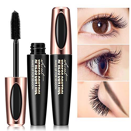 ARTIFUN 4D Silk Fiber Lash Mascara, Very Black Color, Volumizing Mascara, Washable Mascara,Hypoallergenic, For All Eye Colors & Skin -