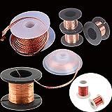 Jammas 3.5mm 1.5M Desoldering Braid Solder Remover Wick Wire Repair Tool Copper Soldering Solder Enamelled Reel Wire Roll - (Diameter: (Style 3)2.5mm 1.5m)