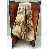 Hand Folded Book Art Sculpture for Reptile Lover, Gecko Lizard, Southwest Decor Housewarming Gift