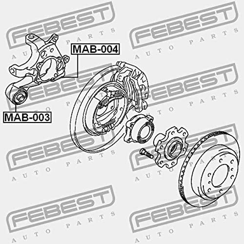 MAB-003 Febest ARM BUSHING REAR ASSEMBLY
