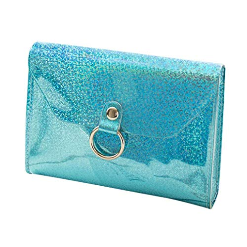 Borsa Donna ASHOP Borsa Tracolla a Catena Mini Laser per Donna Borsa a Tracolla Bag Borse Donna Blu