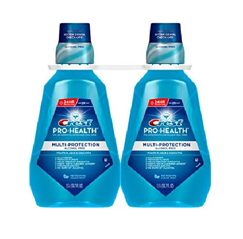 Price comparison product image Crest Pro-health Multi-protection Alcohol Free Rinse 1.5l Pack of 2