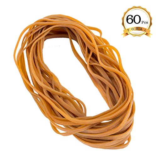 ANPHSIN 60 Pieces Super Size Rubber Bands- Large Heavy Duty Latex Rubber Bands for Garbage can and Moving