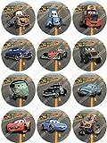 Cakeshop 12 x PRE-CUT Disney Pixar Cars Edible Cake Toppers