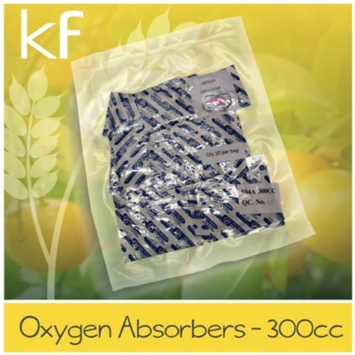 60 - 300cc Oxygen Absorbers (3 packs of 20ea.) for Vacuum Seal or Mylar Bag Food Storage