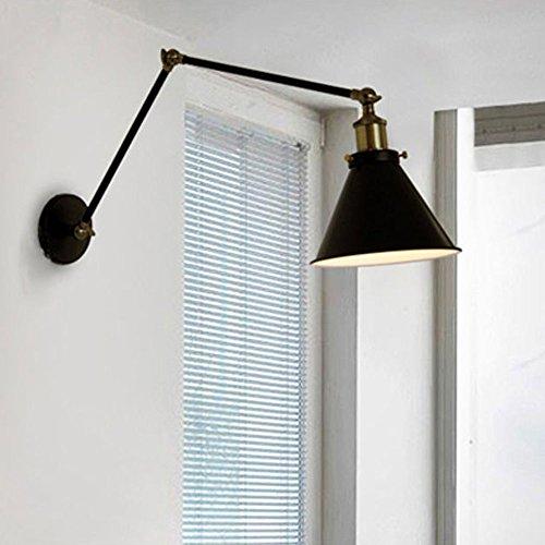 lemonbest industrial swing arm wall sconce shade adjustable handle