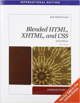 Book New Perspectives on Blended HTML, XHTML, and CSS