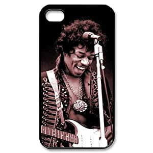 Jimi Hendrix Design Back Case Protective TPU Cover For Iphone 4 4s iphone4s-82029