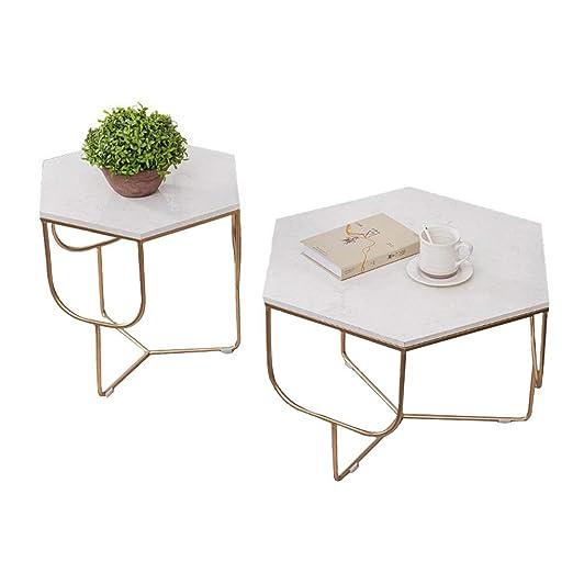Moderna Mesa de café Poligonal de mármol para Hotel, Mesa de té ...