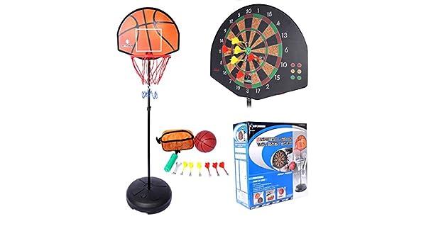 Lommer cesta de baloncesto con soporte, 153 - 172 cm ajustable ...