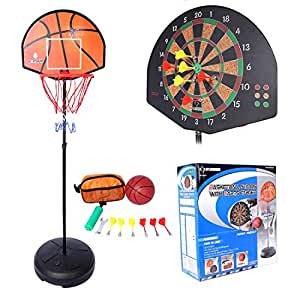 Amazon.com: RAVPump Kids Basketball Hoop Shooting Toy Set