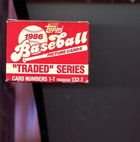 1986 Topps Traded Baseball Complete Box Set Barry Bonds R...