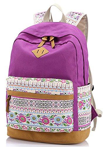 Aivtalk - Mochila y Bolsa Tipo Casual de Lona de Estampada Floral de Mujer Chicas para Viaje Colegio: Amazon.es: Deportes y aire libre
