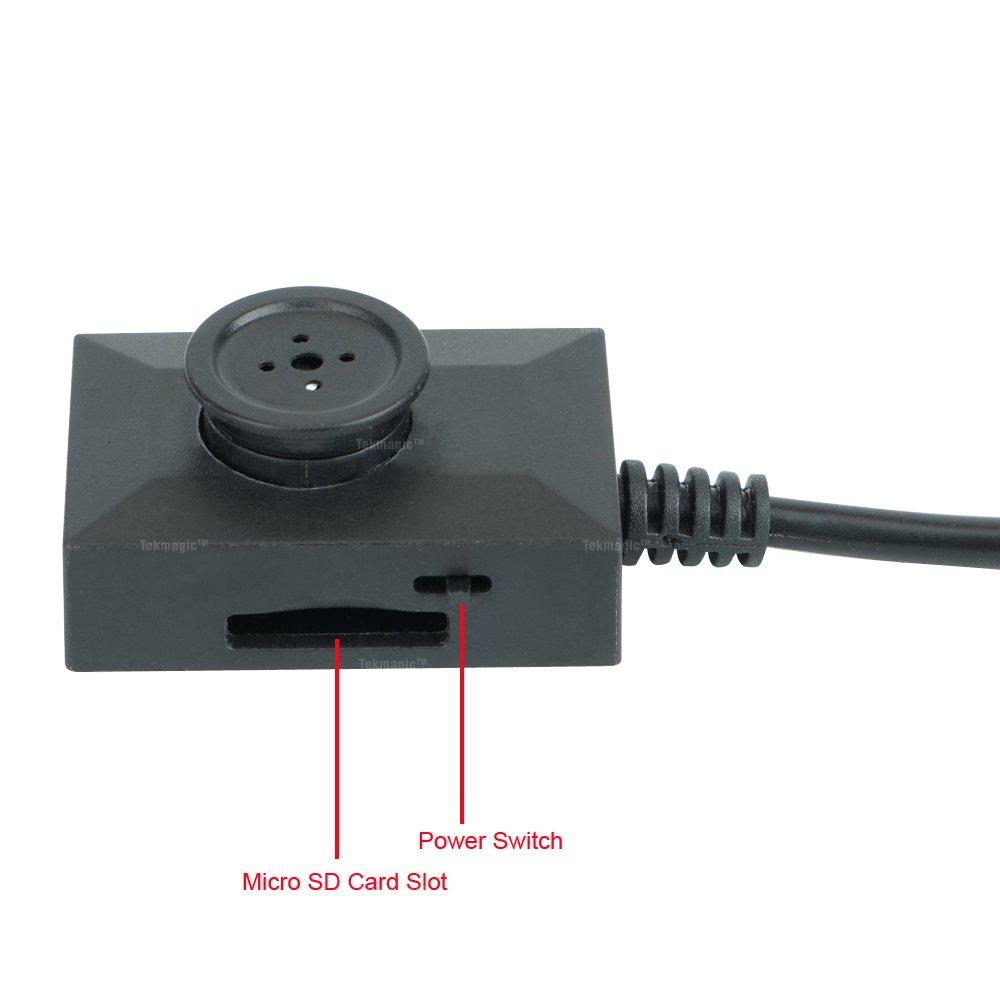 TEKMAGIC 16GB Spion Kamera Taste Mini SD Karten Sicherheit DVR ...
