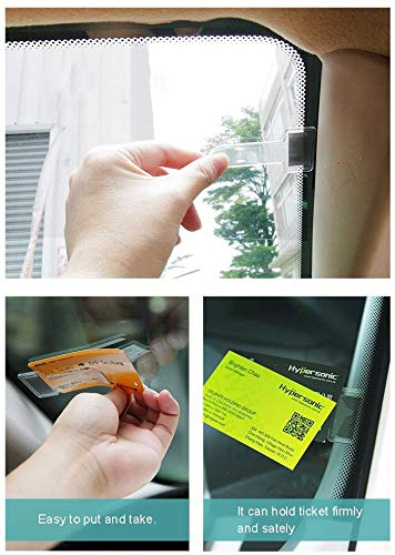 MUCHEN SHOP Parking Permit Holder for Car Windscreen,10 pieces Car Pass Holders Ticket Note Clip Tax Disc Holder for Car Vehicle and Caravan Plastic Transparent