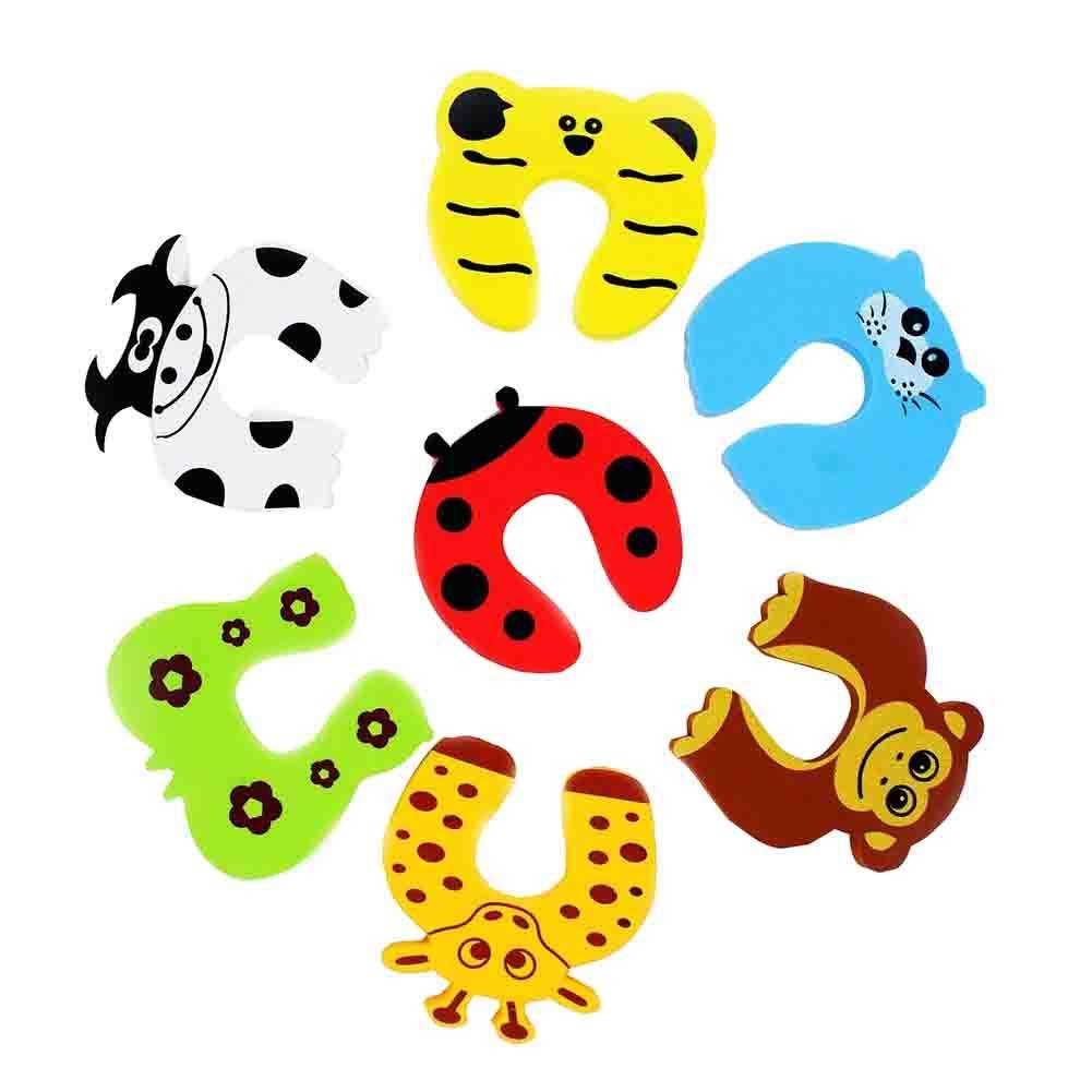 Tapón de Espuma para Puerta, Diseño de Animales de Dibujos Animados, para Bebés, Niños, Protección de Dedos