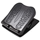 Gogloo Foot Rest Under Desk   Foot Stool for Work at Office and Home(Footrest for Desk), Ergonomic Design, Height Adjustable, Non-Slip, Effectively Relieve Fatigue and Pressure (Black, 11)