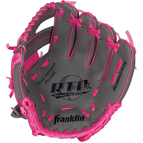 Pink Youth Baseball Glove - Franklin Sports RTP Teeball Performance Gloves, 9.5