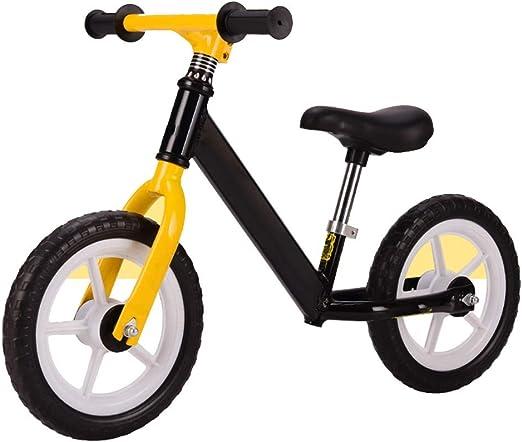 YUMEIGE Bicicletas sin Pedales Bicicletas sin Pedales Niños Principiantes De 1 A 6 Años, Rueda De Espuma Sin Inflado, Bicicleta de Equilibrio para niños Marco De Acero con Alto Contenido De Carbono: