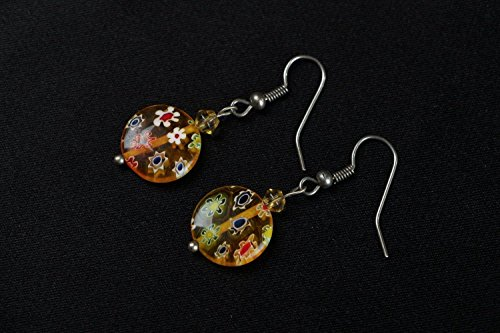 Murano Venetian Ring (Earrings Made Of Murano Glass)