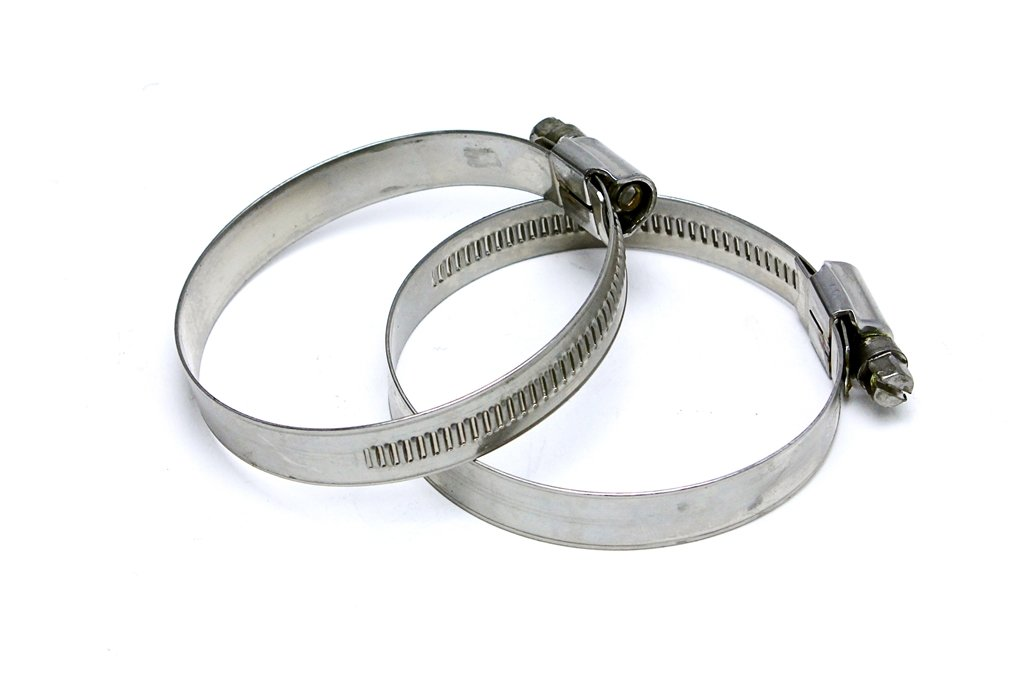 Pack of 2 Effective Size: 1-9//16-2-1//4 1//2 Band EMSC-40-60x2 1//2 Band Effective Size: 1-9//16-2-1//4 HPS Stainless Steel Embossed Hose Clamps SAE 28