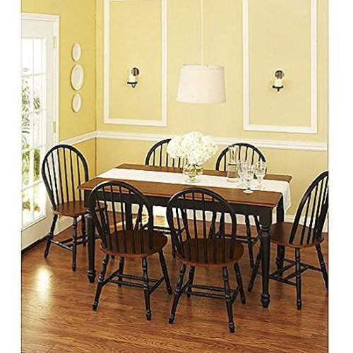 Better Homes and Gardens® Autumn Lane 7 Piece Dining Set, Black and Oak from Autumn Lane