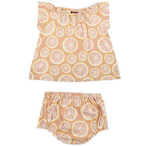 (MilkBarn Cotton Dress and Bloomer Set (12-18 Months, Grapefruit))